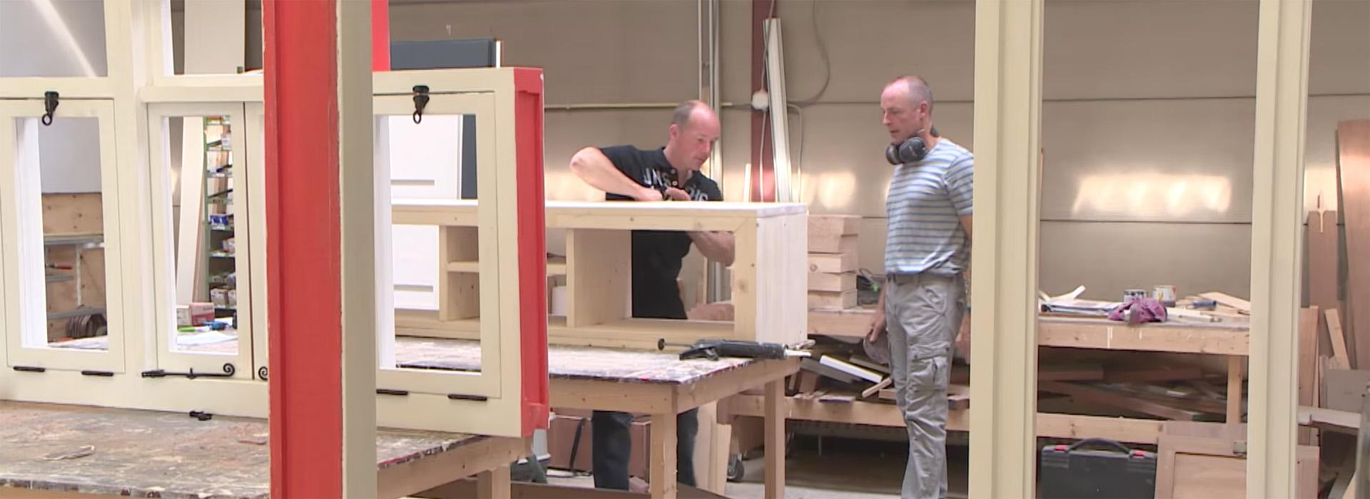 Werkplaats steigerhouten meubels